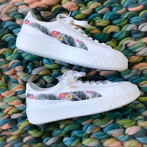 Puma Basket Platform Creepers in Aloha Floral